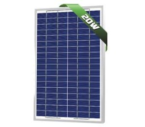 20W Poly Solar Panel 12V