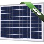 40W Poly Solar Panel 12V